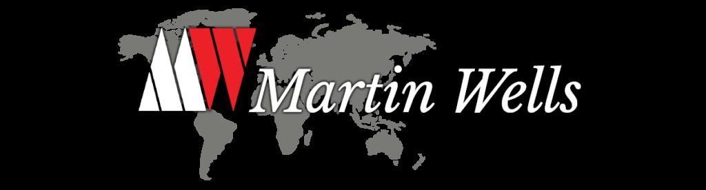 Martin Wells Co logo w map